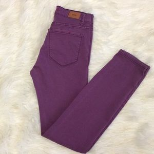 BDG by UO Purple High Rise Cigarette Ankle jeans